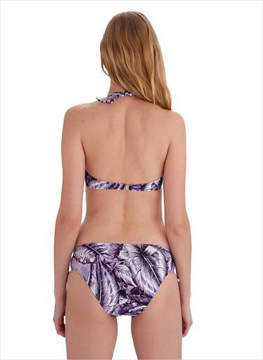 Ayyıldız Straplez Bikini Takımı Lila